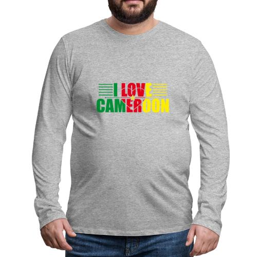 love cameroun - T-shirt manches longues Premium Homme