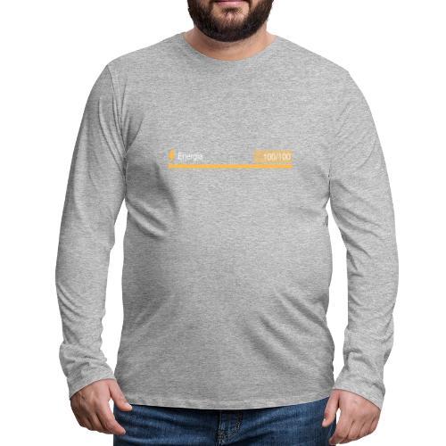 Energía 100% - Camiseta de manga larga premium hombre