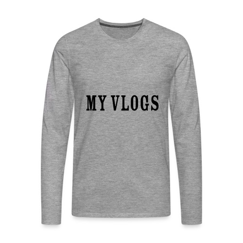 My Vlogs - Men's Premium Longsleeve Shirt