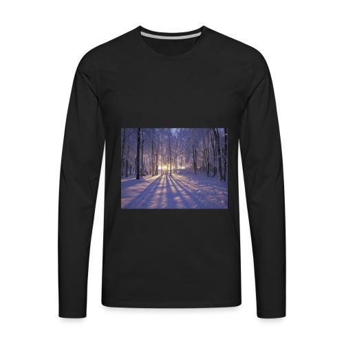 Wintercollectie - Mannen Premium shirt met lange mouwen