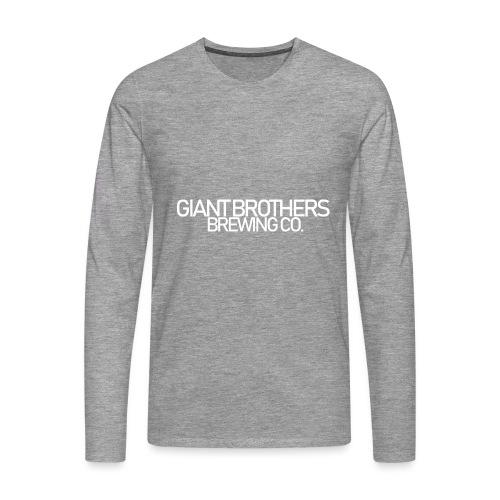 Giant Brothers Brewing co white - Långärmad premium-T-shirt herr