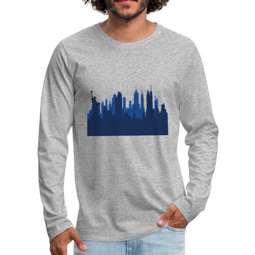Manhattan Skyline - T-shirt manches longues Premium Homme