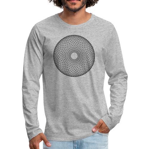 Torus Yantra - Hypnotic Eye - Herre premium T-shirt med lange ærmer