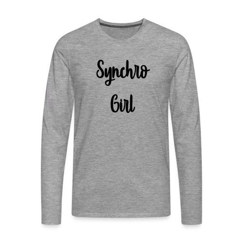 Synchro Girl - Miesten premium pitkähihainen t-paita