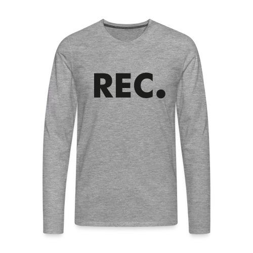 Rec zwart - Mannen Premium shirt met lange mouwen