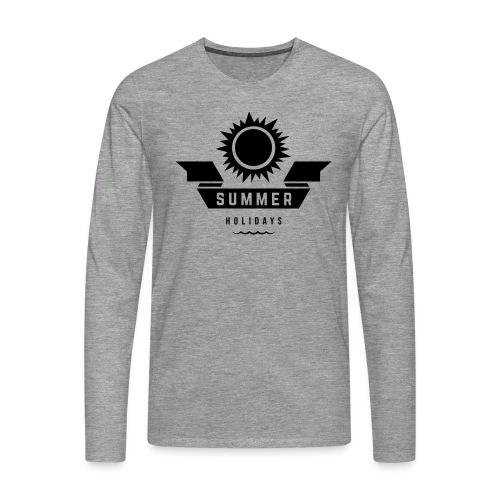 Summer holidays - Miesten premium pitkähihainen t-paita