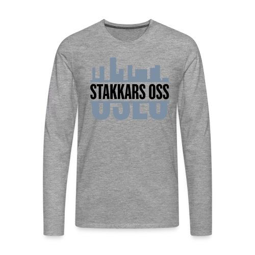 stakkars oss logo 2 ny - Premium langermet T-skjorte for menn