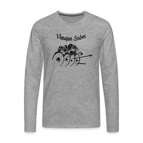 Kilpimuuri A - Miesten premium pitkähihainen t-paita