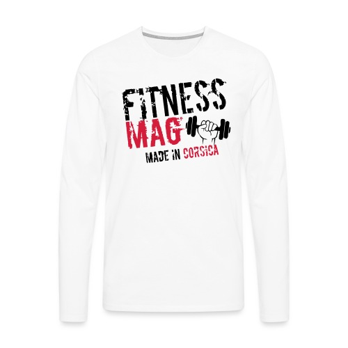 Fitness Mag made in corsica 100% Polyester - T-shirt manches longues Premium Homme