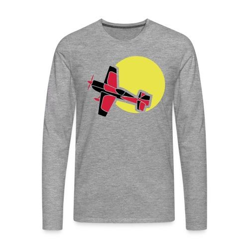 Flugzeug Jet Airplane Sky Himmel Sun Sonne Sport - Männer Premium Langarmshirt