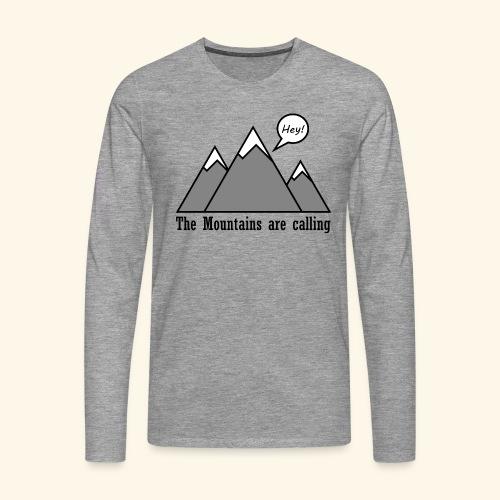 mountains calling - Männer Premium Langarmshirt