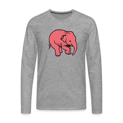 DT olifant - Mannen Premium shirt met lange mouwen
