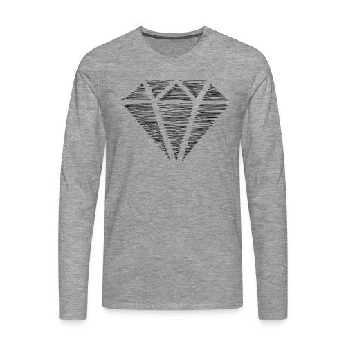 Diamante - Camiseta de manga larga premium hombre