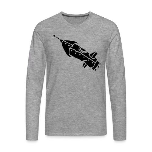 space shuttle space ship Rakete rocket satellite - Männer Premium Langarmshirt