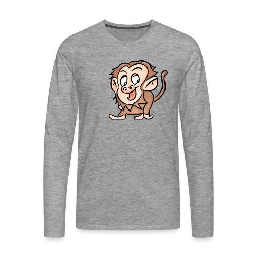 Aap - Mannen Premium shirt met lange mouwen