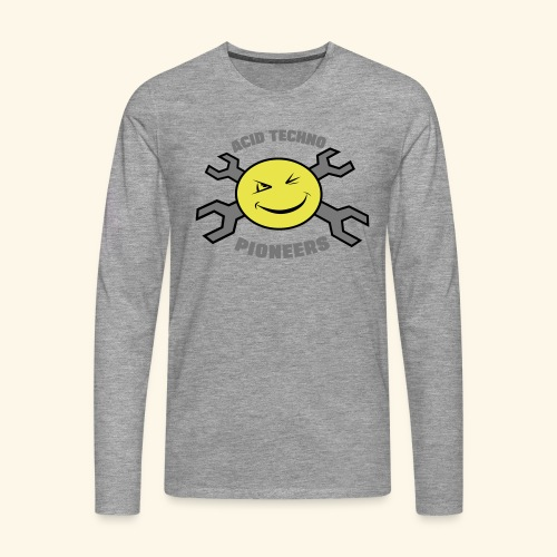 ACID TECHNO PIONEERS - SILVER EDITION - Men's Premium Longsleeve Shirt