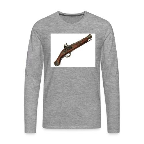 Pistola - Camiseta de manga larga premium hombre