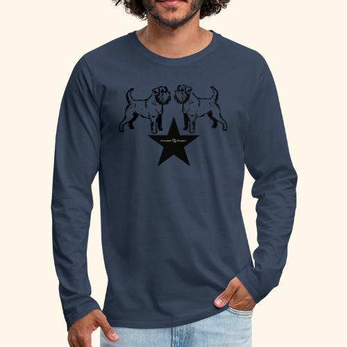 Brussels Griffon Logo - T-shirt manches longues Premium Homme