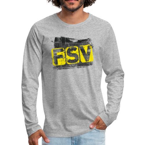 Hildburghausen FSV 06 Graffiti black - Männer Premium Langarmshirt