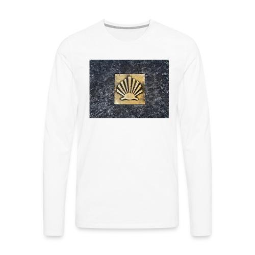 Scallop Shell Camino de Santiago - Men's Premium Longsleeve Shirt