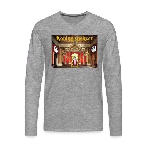 Koning Spekvet - Mannen Premium shirt met lange mouwen