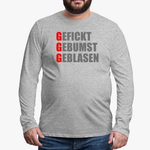 3G-Regel gefickt gebumst geblasen (farbig) - Männer Premium Langarmshirt