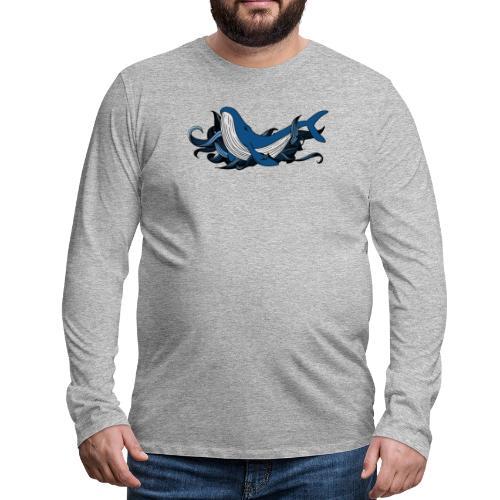 Doodle ink Whale - Maglietta Premium a manica lunga da uomo
