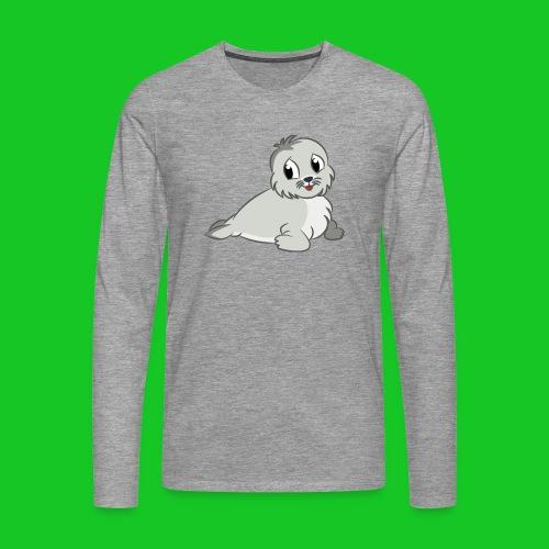 Zeehondje - Mannen Premium shirt met lange mouwen