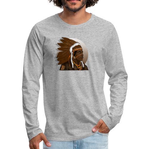 indio apache - Camiseta de manga larga premium hombre