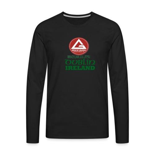 Gracie Barra Dublin Gaelic Celtic Font PNG - Men's Premium Longsleeve Shirt