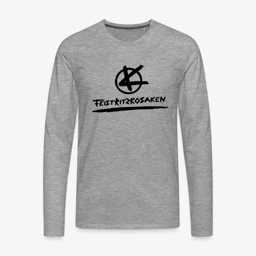 Feistritzkosaken Logo dunkel - Männer Premium Langarmshirt