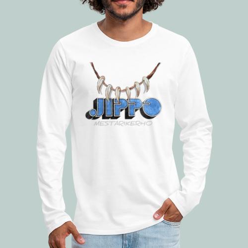 Jippomestari - Miesten premium pitkähihainen t-paita