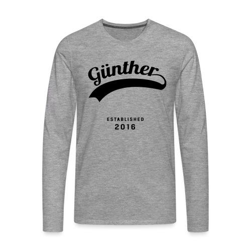Günther Original - Männer Premium Langarmshirt