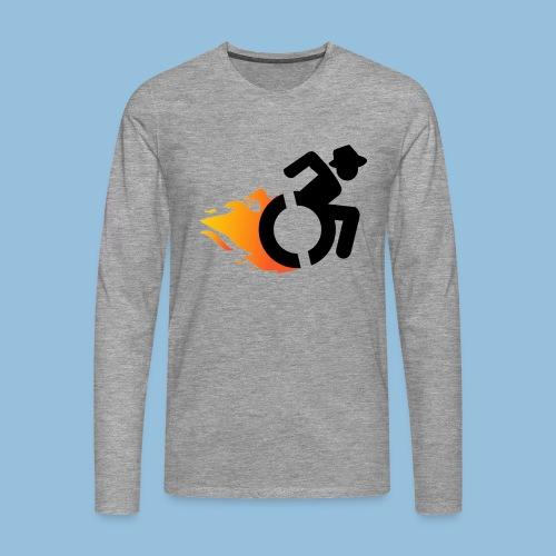 Roller met vlammen 016 - Mannen Premium shirt met lange mouwen