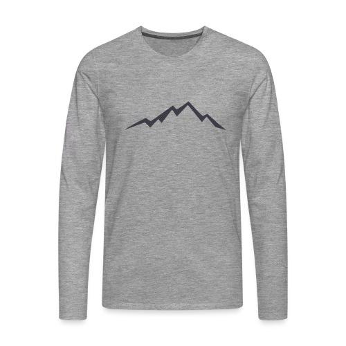 swiss alps clipart sihllouette ski mountains - Mannen Premium shirt met lange mouwen