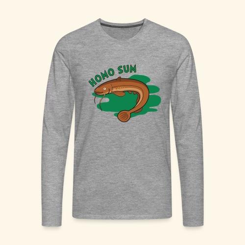 Homo sum ;) - Koszulka męska Premium z długim rękawem