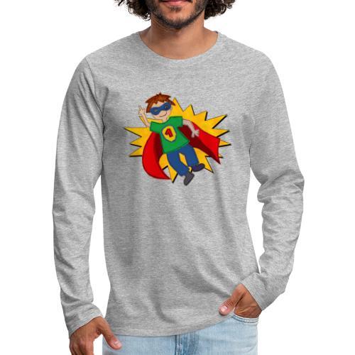 Superheld - Männer Premium Langarmshirt