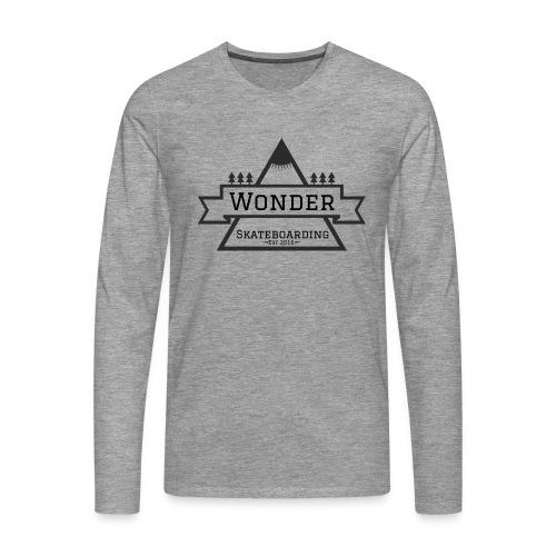 Wonder hoodie no hat - Mountain logo - Herre premium T-shirt med lange ærmer