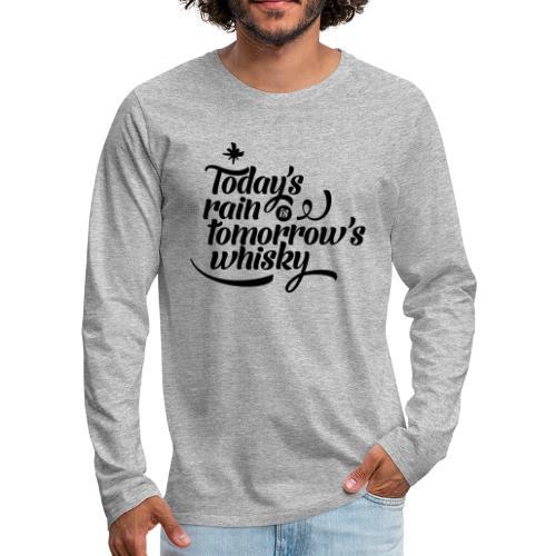 Todays's Rain Women's Tee - Quote to Front - Men's Premium Longsleeve Shirt
