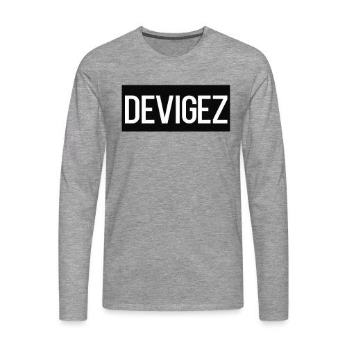 devigez black - Långärmad premium-T-shirt herr