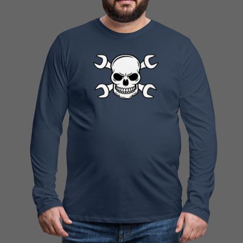MEKKER SKULL - Herre premium T-shirt med lange ærmer