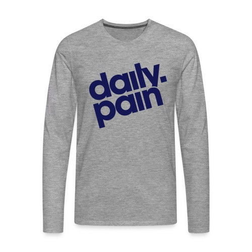 daily pain classic - Koszulka męska Premium z długim rękawem