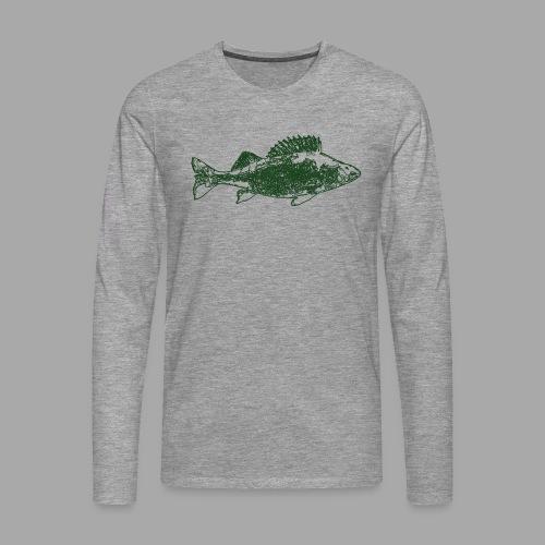 Perch - Miesten premium pitkähihainen t-paita