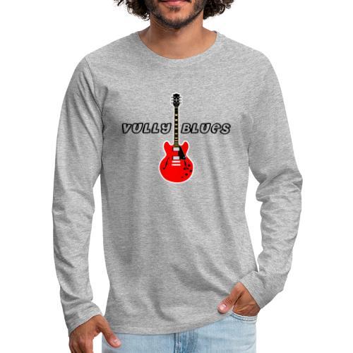 Guitare avec texte Vully Blues classique noir - Männer Premium Langarmshirt