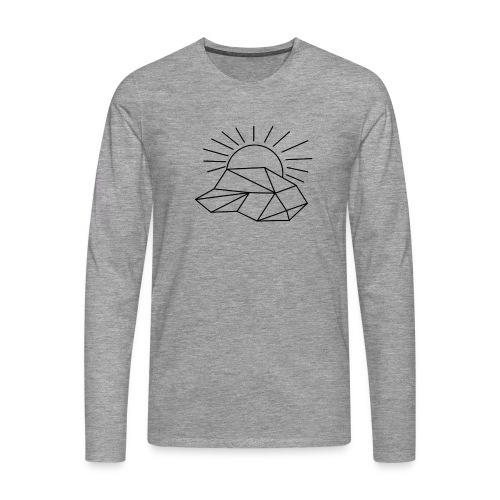 Sonne Wolke - Männer Premium Langarmshirt
