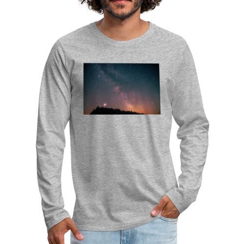 Milchstraße Fotografie Galaktisches Zentrum - Männer Premium Langarmshirt