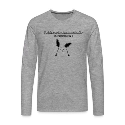 adoptez un lapin ! - T-shirt manches longues Premium Homme