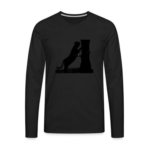 Tiger On A Tree - Maglietta Premium a manica lunga da uomo