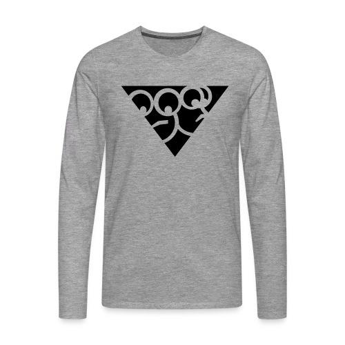 Aussenseiter-Shirt (Schwarz-Gelb) - Männer Premium Langarmshirt