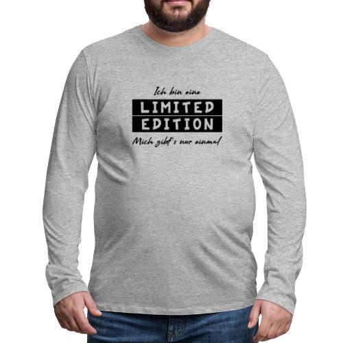 ich bin eine limit edition - Männer Premium Langarmshirt